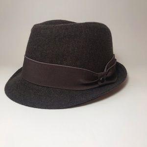 Stetson Wool Blend Fedora in Dark Brown- Size S/M